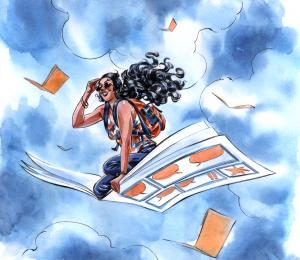 Arte de Ana Luiza Koehler para o FIQ 2016 + Encontro Lady's Comics