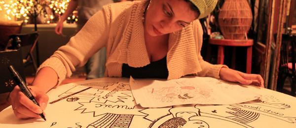 Lila desenhando_Leo Sancao