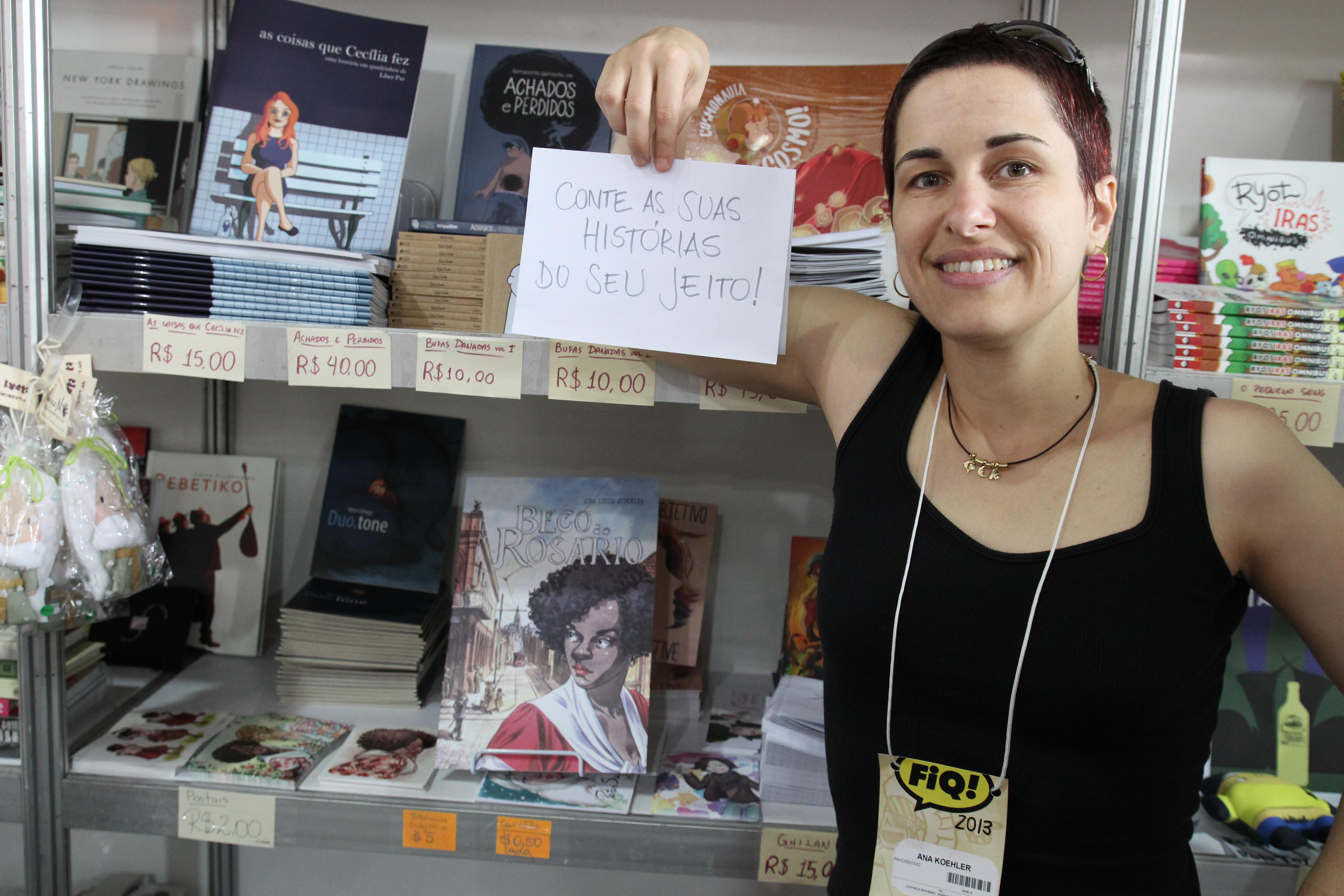 Ana Luiza da dica para quem quer começar a fazer quadrinhos