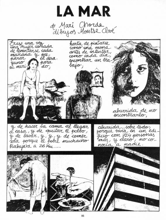 y primera página de la historieta La Mar