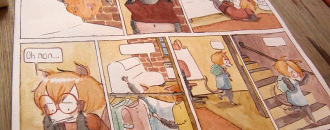 Outro quadrinho de Luchie - The little possum girl story