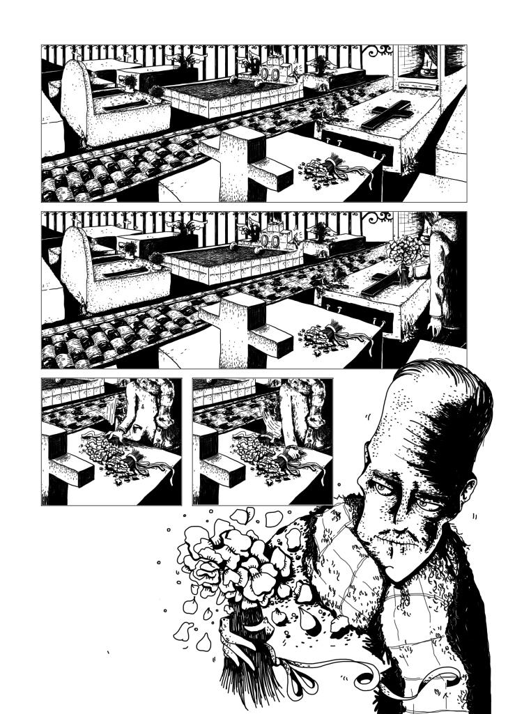 Ilustração da história A Noiva de Preto