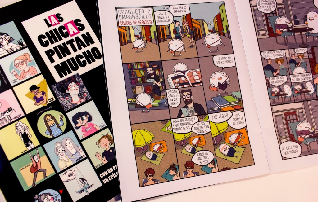"""Reprodução do site da Ana Oncina (http://migre.me/t4Nhh), uma das autoras da revista """"Las chicas pintan mucho""""."""