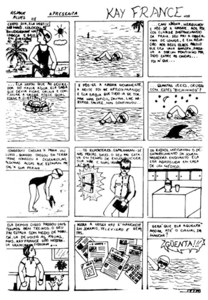 Kay France. Fonte: A incrível história dos quadrinhos.