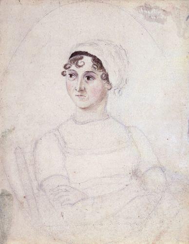 Aquarela feita por Cassandra Austen, irmã de Jane Austem, 1810.