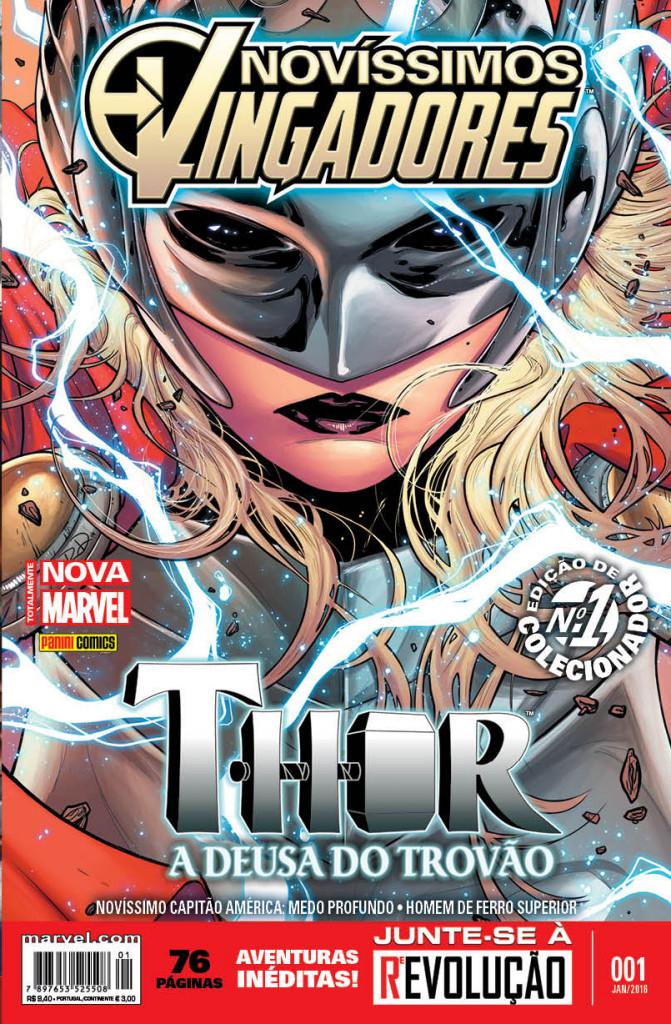 Capa da primeira edição de Novíssimos Vingadores