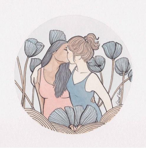 "Arte de Carol Rossetti publicada em ""The Gaysi Zine"". Imagem: http://carolrossetti.tanlup.com"