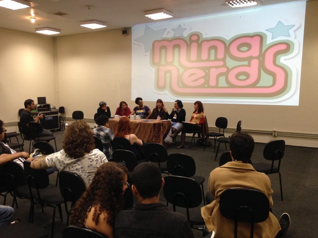 Bate-papo sobre cinema de horror na Terrofest promovido pelas Minas Nerds. Foto: Paula Rodrigues.