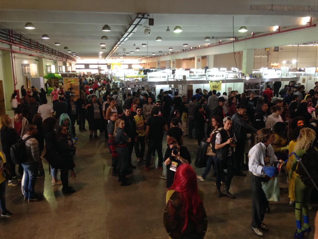 Legenda 1: Panorâmica do segundo dia da Fest Comix 2016.