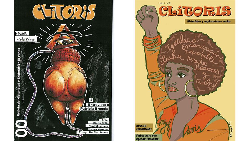 capas-revista-clitoris-quadrinhos-1-e-2