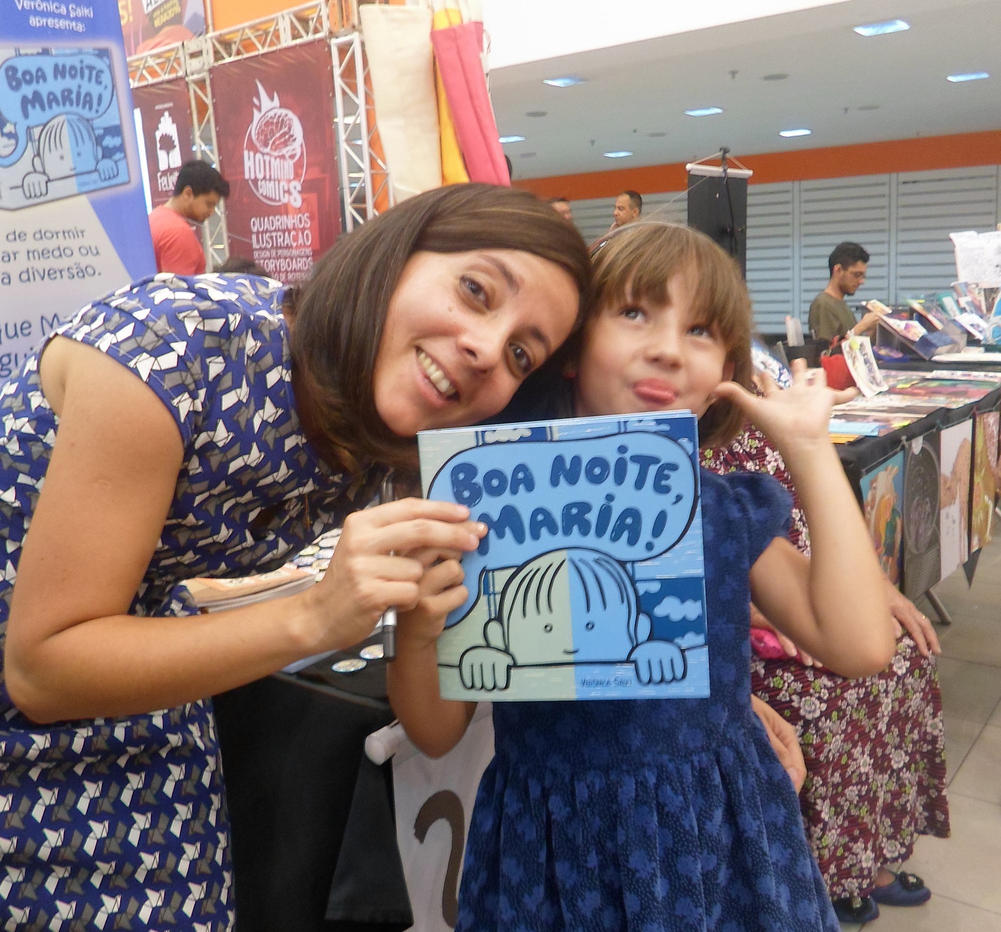 """Verônica Saiki e Maria, sua sobrinha e inspiração para seu primeiro livro infantil """"Boa noite Maria"""""""